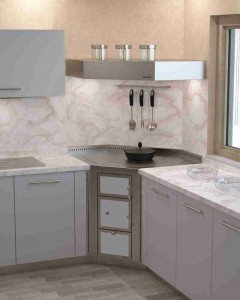 Rizzoli Küchenherd Angolo marmo